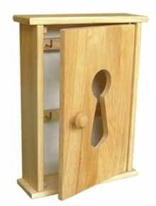 Skříňka na klíče 195x80x253 mm dřevěná