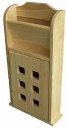Skříňka na klíče s přihrádkou 190x60x370 mm dřevěná