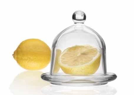 Skleněná dóza na citron LEMON 7cm