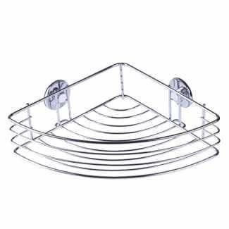 Drátěná polička samolepicí - rohová 317x50x215 mm