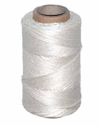 Motouz lněný - bílý, lesklý  100g/ 120m