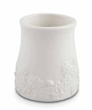 Koupelnový šálek keramický bílý