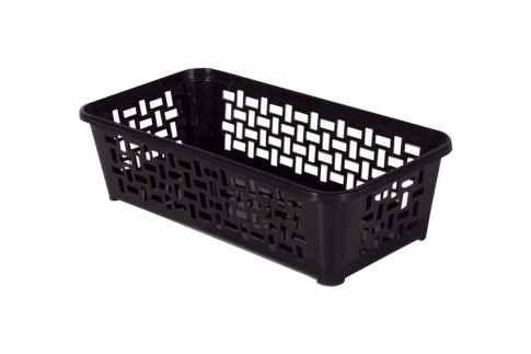 Plastový košík DOMINO 190 x 99 x 53 mm / černý