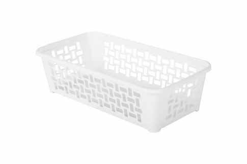 Plastový košík DOMINO 190 x 99 x 53 mm / bílý