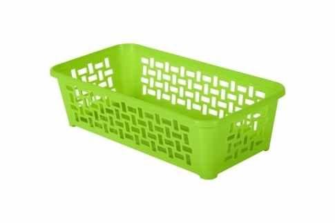 Plastový košík DOMINO 190 x 99 x 53 mm / zelený