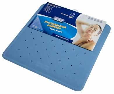 Protismyková podložka do sprchovacích koutů 54x54 cm modrá
