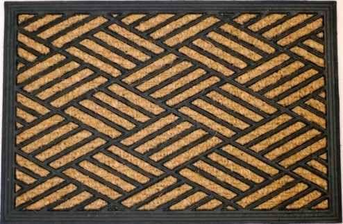 Čisticí vstupní rohož guma & mořská tráva CITOLE 40x60cm venkovní