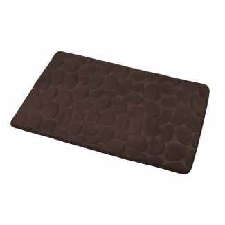 Koupelnová předložka tmavě hnědá / 50 x 80 cm