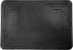 Čisticí vstupní rohož gumová FLINT 38X56 cm černá