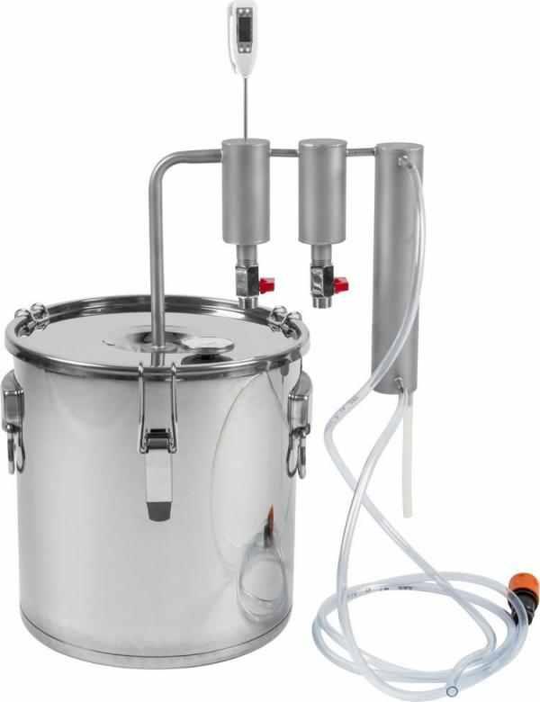 Destilační kolona 18l s chladičem a usazovací nádrží