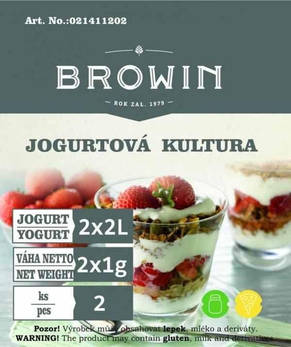 Jogurtová kultura na 4l mléka