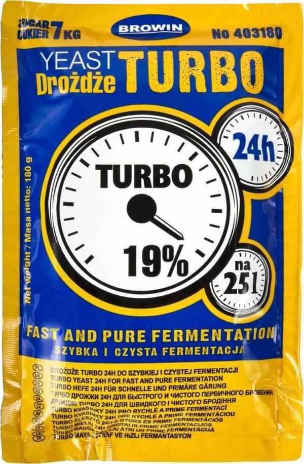 Kvasinky Turbo Browin 180g 19% na 25 litrů