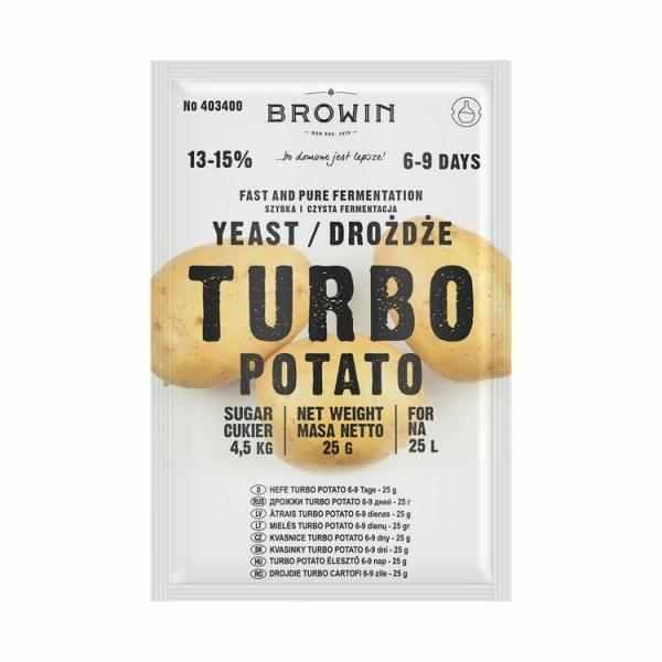 Kvasinky Turbo Potato 25l/ 25g 13-15% na 25 litrů