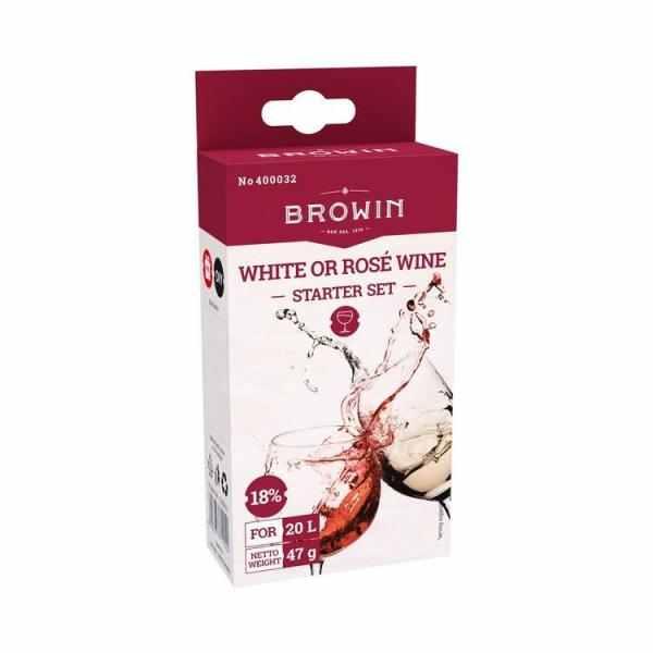 Starter set na vína bílá a růžová 20 l - 18%