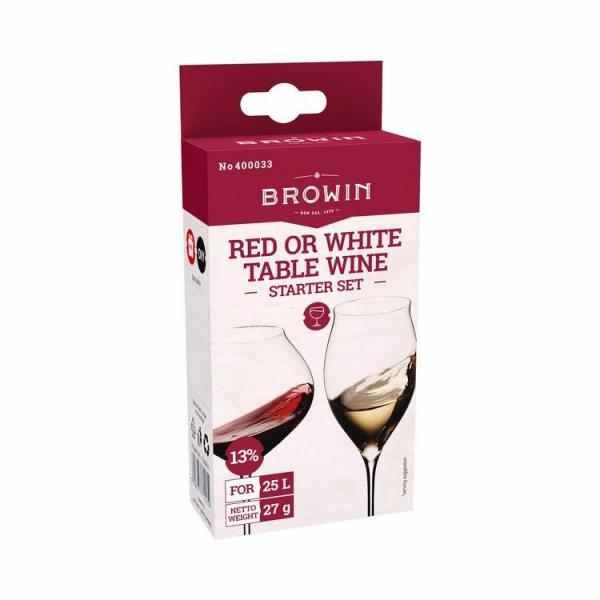 Starter set na stolní vína bílá a červená 25l