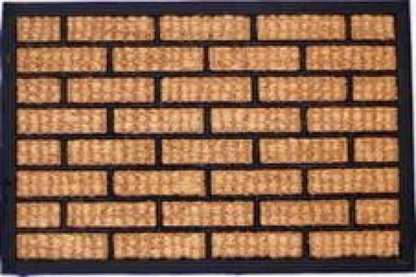 Čisticí vstupní rohož guma & mořská tráva FAGOTTO 45x75cm venkovní