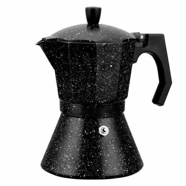 Moka konvice Espresso 150 ml - AL černý mramor