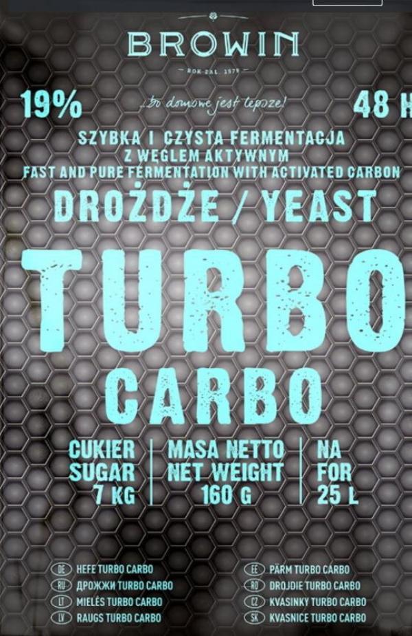 Kvasinky Turbo Carbo 160g - 48 h