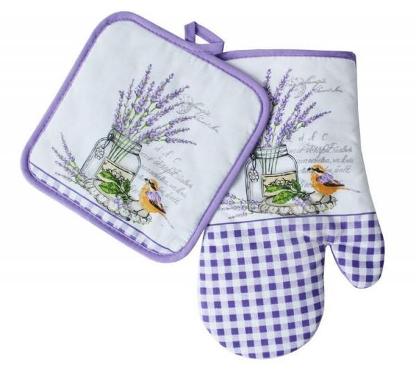Souprava kuchyňské rukavice a chňapky - vzor S158