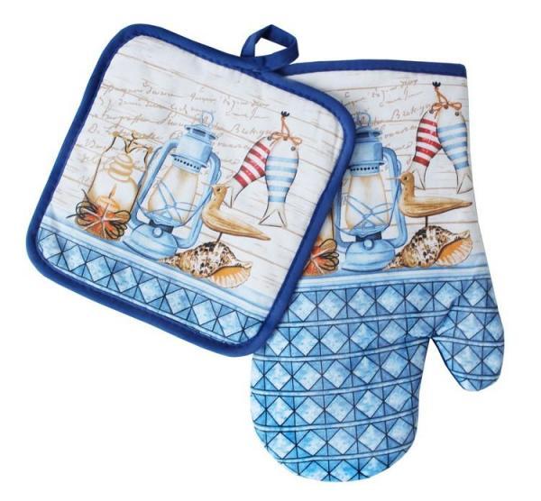 Souprava kuchyňské rukavice a chňapky - vzor S159