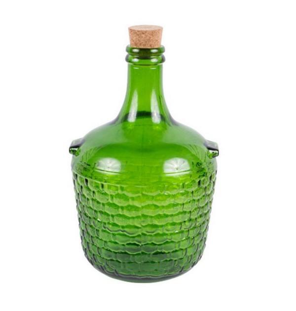 Demižon 4L zelený