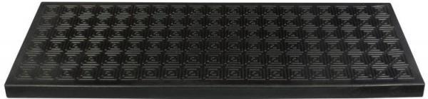 Foto Nášlapná schodišťová rohož gumová HUMITE černá 25x75 cm