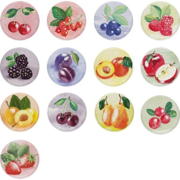 Foto Zavařovací víčko TWIST 66 dekor ovoce, 10ks