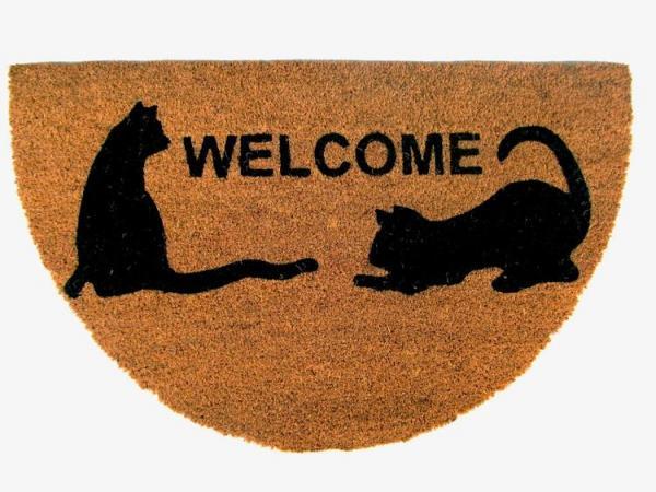 Rohož PVC & kokos 45x75, Welcome Cats