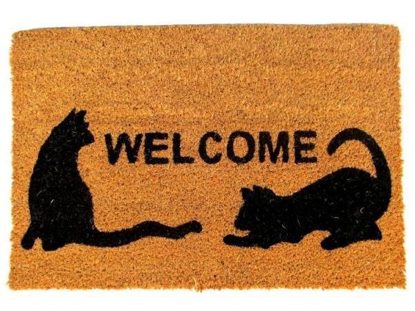 Rohož PVC & kokos 40x60/ Welcome Cats