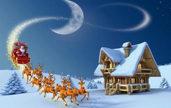 Stolové prostírání vánoční Santa