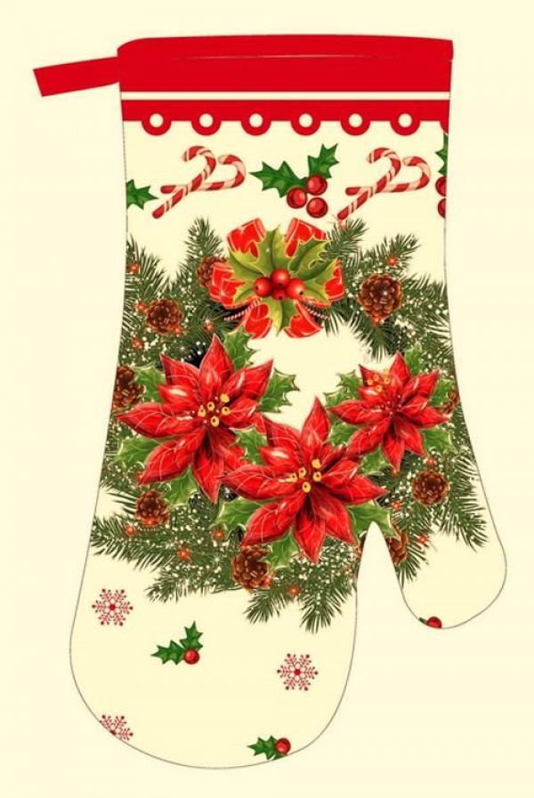 Kuchyňská rukavice, F9226, vánoční