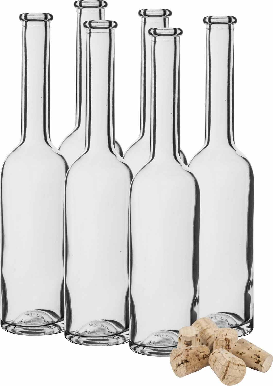 Skleněné lahve na alkohol